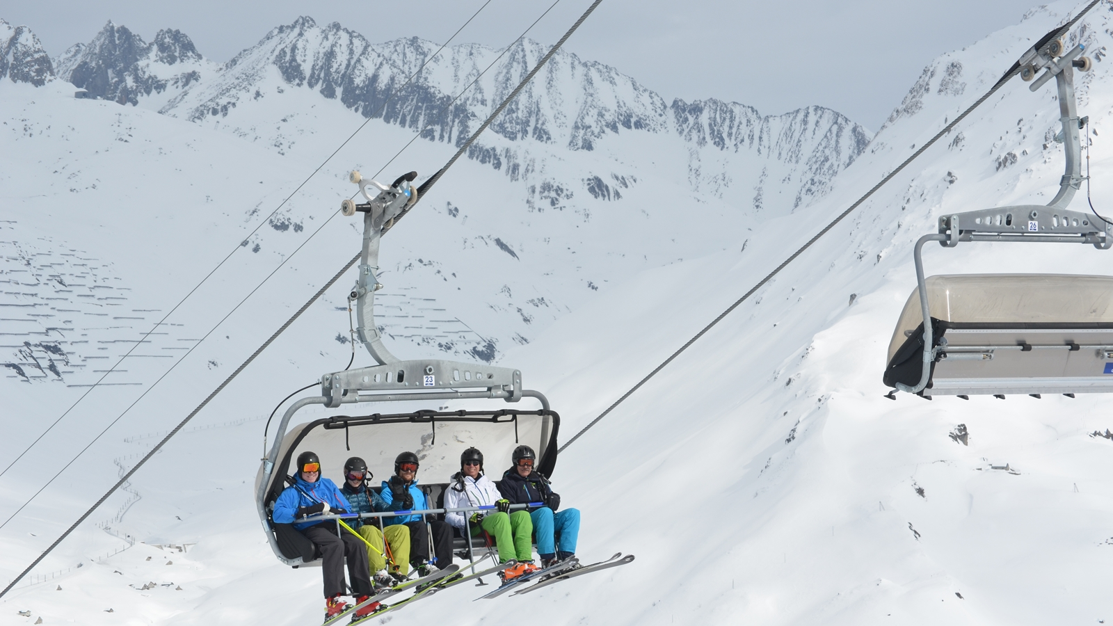 Chair Lift   Skiing   Open Slopes