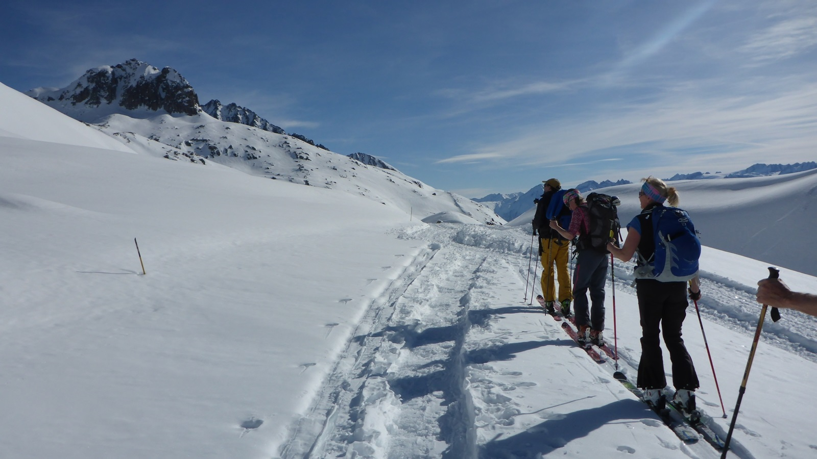 Ski touring; Andermatt; Ski Academy; guiding; safety course; powder;