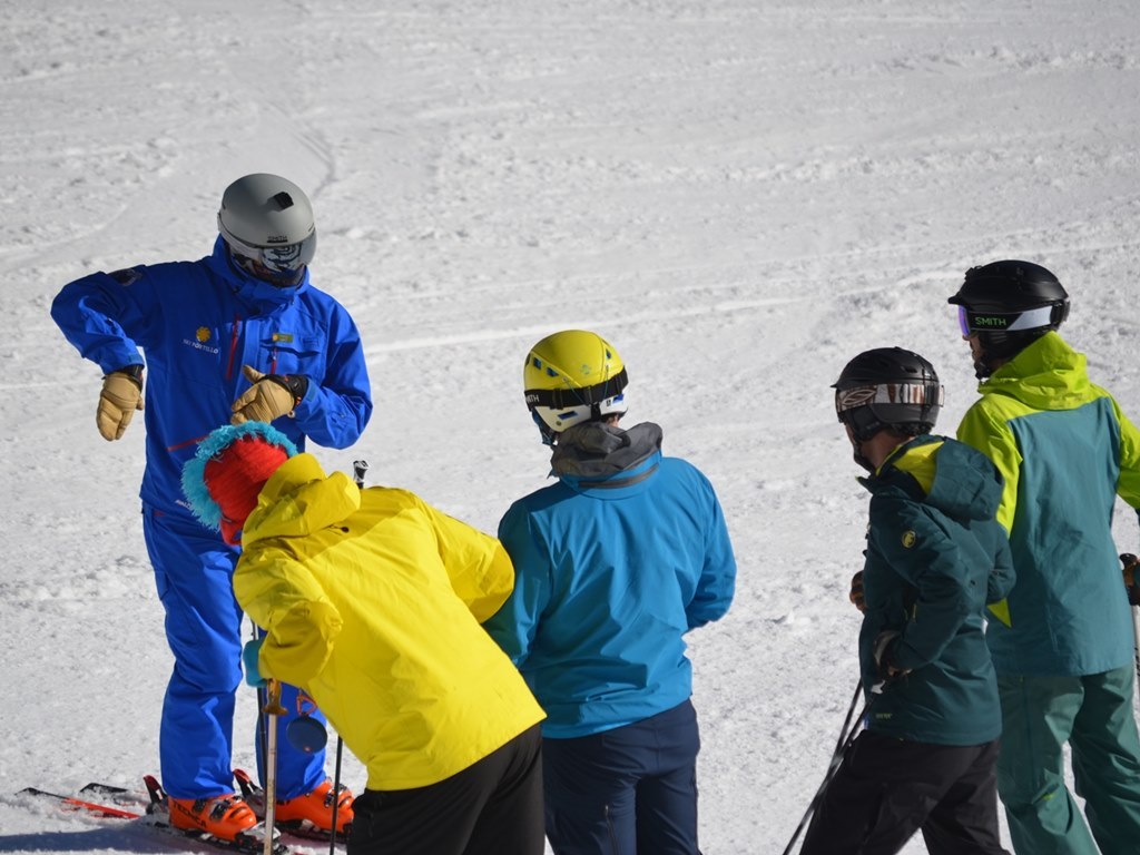 Ski Academy's Performance Ski Camp in Andermatt; go with a pro; take your skiing to the next level; ultimate adventure; highly qualified instructors; fun learning environment; ski group lesson;