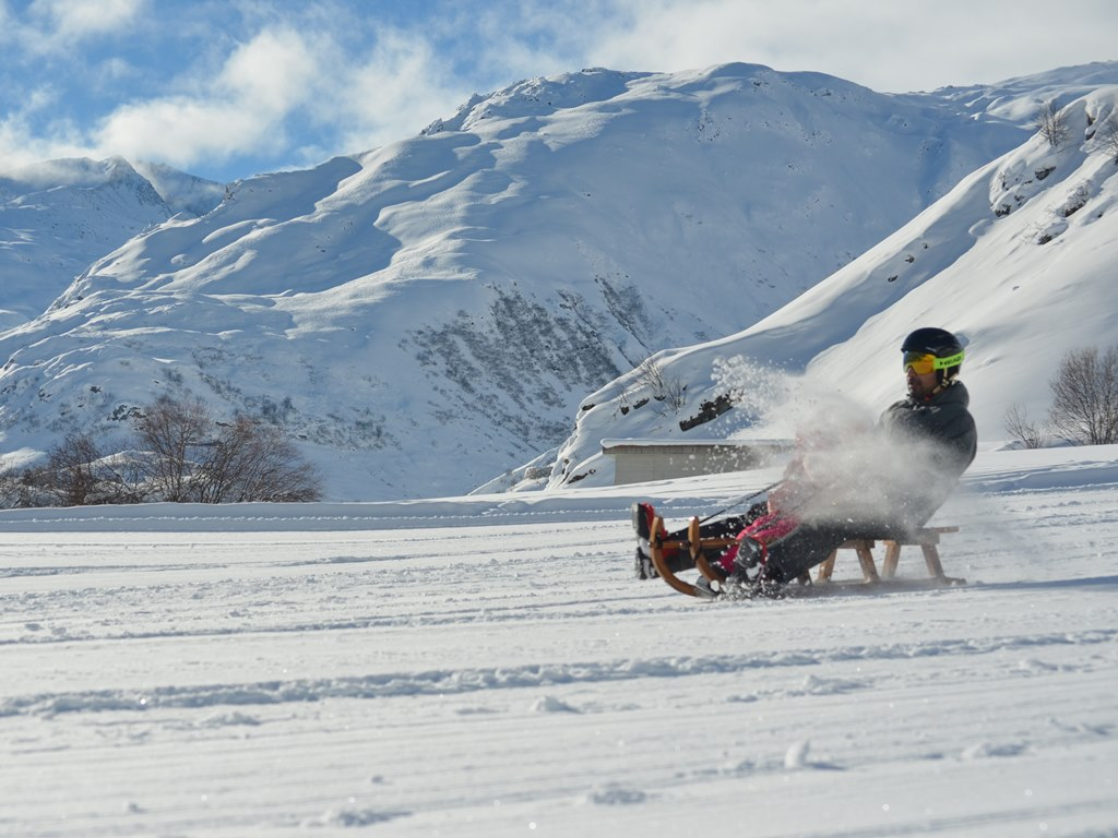 sledding; Realp; learner's area; endless fun; Ski Academy Andermatt