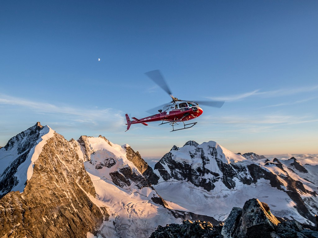 panoramic flights with Swiss Helicopter and Ski Academy; Andermatt; Erstfeld; Urner Alps; Central Switzerland; scenic flight;