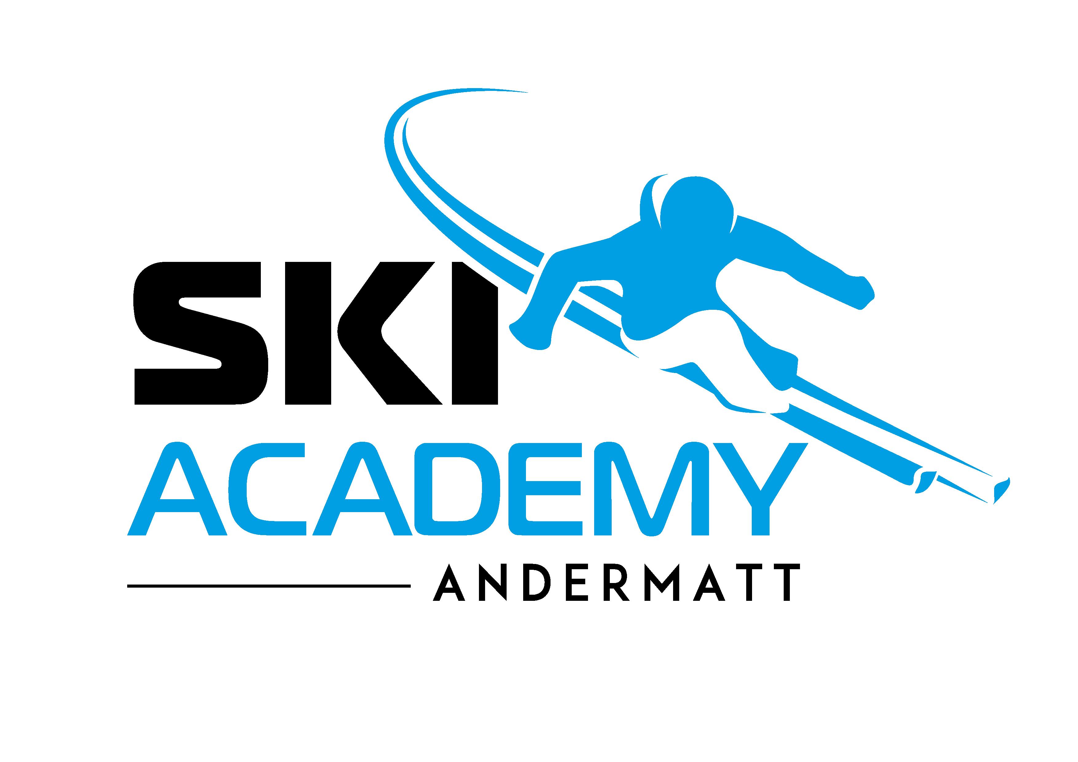 Ski Academy; Skischule; Andermatt; Logo; Skifahrer; Skifahren; Lernen