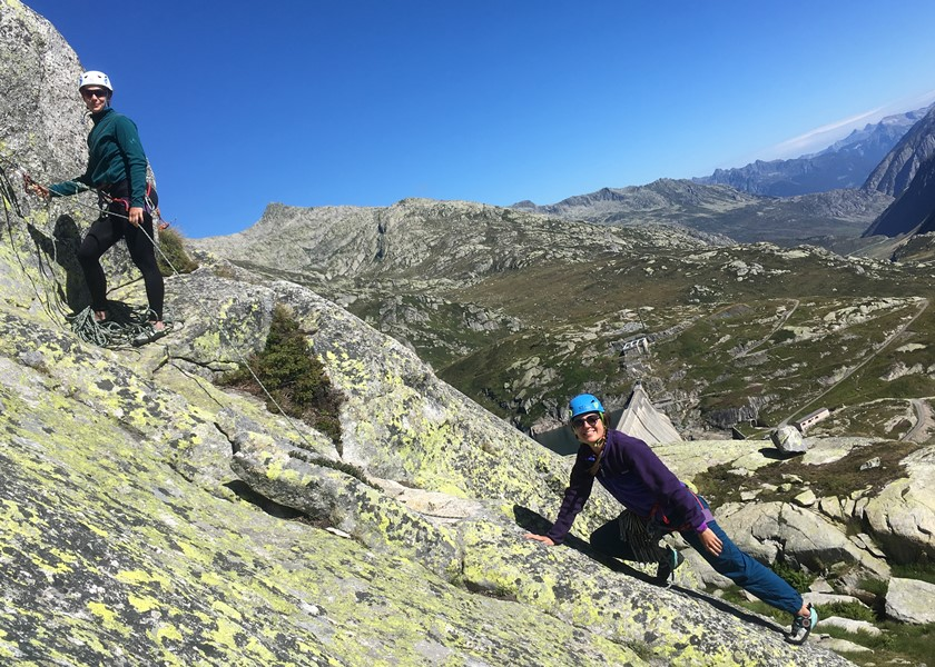 Climbing Course with peakdreams GmbH in one of Andermatt's beautiful climbing gardens