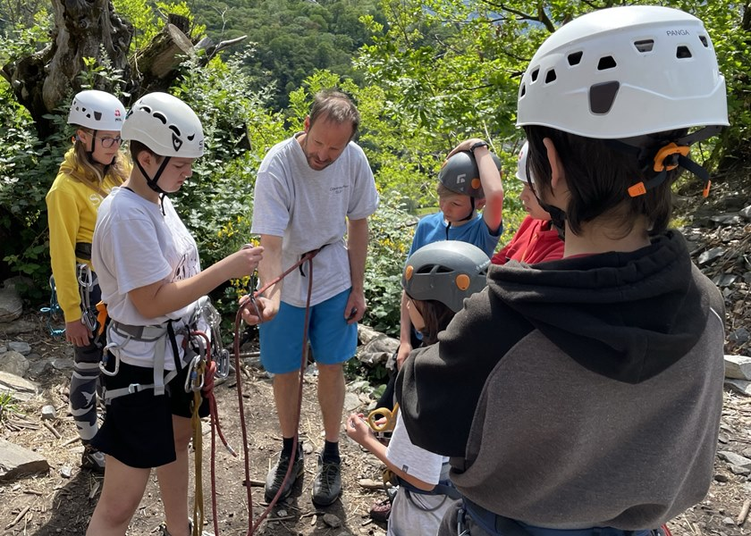 Climbing Camp for Kids & Teenagers: Learning Life Skills: Mountaineering; Knots; Multi-pitch climbing